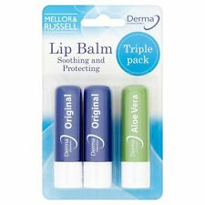 Derma Soothing And Protecting Lip Balms Triple Pack - 2 Original and 1 Aloe Vera