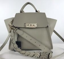 $495 ZAC ZAC POSEN Eartha Iconic Top Handle Almond Satchel Handbag Bag