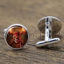 Cufflinks Glass Silver Pirates Of The Caribbean New & Sealed