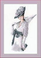 Miss Elegance Lady Cross Stitch Kit by Riolis 14 Count 21cm x 30cm