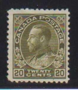 A7141: Canada #119 Mint, OG, F-VF; LH/H; CV