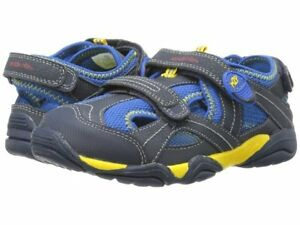 NIB STRIDE RITE Outdoor Shoes M2P Soni Navy Blue Yellow 9 M