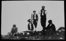 ANTIQUE Magic Lantern Slide MISS BLANDFORD MOUNT VENERE SUMMIT 1906 PHOTO SICILY