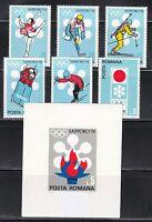Romania 1971 MNH Mi 2984-2989+Block 91 Sc 2294-2300 Winter Olympic Games,Japan**
