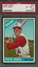 1966 TOPPS #30 PETE ROSE PSA 6.5 EX-MT+ CINCINNATI REDS HE HIGH END BASEBALL