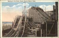 Revere Beach MA Derby Roller Coaster c1920 Postcard