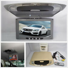 """9"""" Car Roof Mount LCD Color Flip Down Screen Overhead Multimedia Video Monitor"""