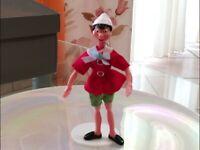 Rarissimo Pinocchio in Gomma componibile snodabile Alto 15 cm da collezione
