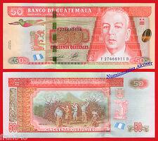 GUATEMALA 50 Quetzales 2012 (2014) Pick New SC / UNC