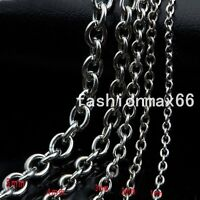 1/2/3/4/5mm Wholesale Silver Stainless Steel 5/10 Meter Rolo Link Necklace Chain