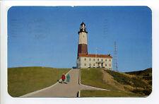 Montauk Point Lighthouse L.I. NY, women walking, retro clothes, 1951
