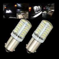 2PCS BA9S T11 T4W 3014 LED 24-SMD Car Side Light Bulb Interior Lamp White 160LM