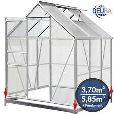 Deuba® Gewächshaus 3,7m² inkl. Fundament Treibhaus Tomatenhaus Schiebetür 5,85m³