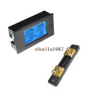Digital LCD Volt Watt Current Power Meter Ammeter Voltmeter Meter 50A +Shunt
