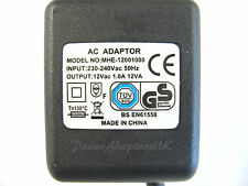 WHIRLWIND THS 3 1A/1000MA 12V AC/AC POWER ADAPTOR/SUPPLY/CHARGER/TRANSFORMER