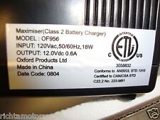 Brand New Oxford Maximiser Motorcycle Battery Charger  - 76-956 (OF956)