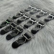 50 Black Steel Corset Suspender Belt Clips / Garter Grips Corset Sewing Supplies