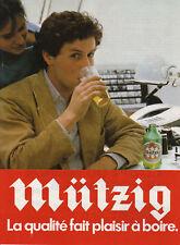 Publicité ancienne bière Mützig la qualité 1982 issue de magazine