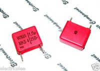 5pcs - WIMA MKS4 1uF (1µF 1.0µF) 250V 5% pitch:15mm Polyester Capacitor