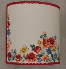 PARALUME FIORI ROSE STOFFA-LAMPSHADE PINK FLOWER-ABAT JOUR FLEUR TISSU-ARREDO