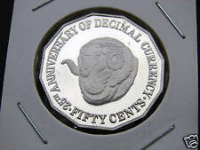 **1991  50 cent proof coin. Only 41,590 made! RAMS HEAD coin in 2 x 2 holder.***