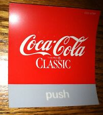 "Coca-Cola Classic Vending Machine Button Insert, Red, 3.5"" x 3.5"", PUSH"