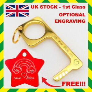 Contactless Hand Hygiene Antimicrobial EDC Door Opener Key Chain Non Touch