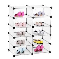 Songmics DIY Cubes/armoire/étagère de Rangement modulables plastiques Lpc20w