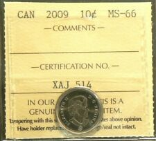 2009 Canada 10 Cents ICCS MS 66 #5223