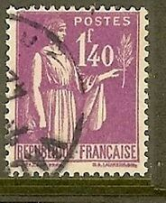 "FRANCE TIMBRE STAMP N° 371 "" TYPE PAIX 1F40 LILAS "" OBLITERE TB"