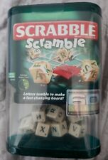 SCRABBLE SCRAMBLE GAME 60 YEARS EDITION - CLASSIC WORD GAME - Great for Travel