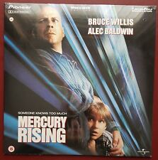Mercury Rising - PAL Laserdisc - Bruce Willis - NEW SEALED