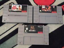 SNES Super Nintendo games lot 3 cartridges w/ Mortal Kombat 3! Works!