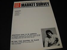 JONATHAN KING is in America with Two masters 1972 PROMO POSTER AD mint condition