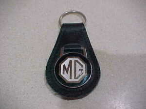 MG  LEATHER KEY FOB IN BLACK