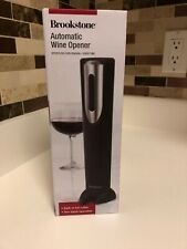 Brookstone Automatic Wine Opener with Built-in Foil Cutter, One Touch Operation