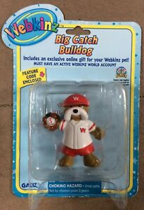 Ganz Webkinz Figure Big Catch Bulldog Mini Pet Figurine CODE NEW NIP NIB