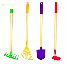 G F Products JustForKids Kids Garden Tool Set Toy, Rake, Spade, Hoe and Leaf R