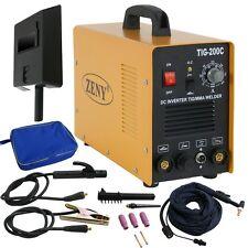 110v 220v DC inverter TIG MMA Welder Welding Machine 200 amp With Mask TIG-200C