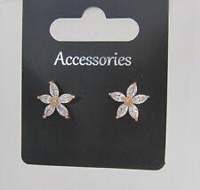 Elegante Cristal Flor aretes para orejas perforadas Boda Accesorios Nuevo