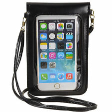 PU Leather Crossbody Bag Case Pouch for Samsung Galaxy S8 Plus / iPhone 8 Plus