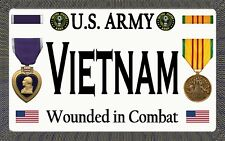 "Purple Heart - U.S.Army - Vietnam - Tough, Durable Magnet-6"" W X 3.75"" H"