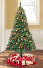 Pre-Lit 6.5' Madison Pine Artificial Christmas Tree, Multi-Color Lights 1-Day Sh