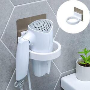 Bathroom Shelf Storage Wall-mounted Hair Dryer Holder Rack Organizer Punch-free