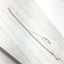 Dainty Park Lane Gold Tone Clear Rhinestone Tennis Bracelet