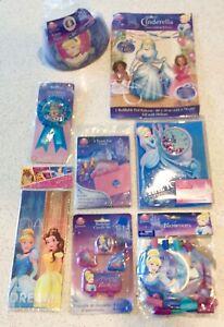 Disney Princess Cinderella Birthday Party Pack Invitations Candles Blowouts 8ct.
