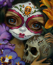 Milagros La Calavera Jasmine Becket-Griffith CANVAS PRINT Day of the Dead art