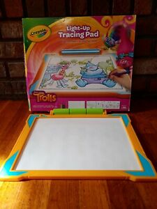 TROLLS Crayola Tracing Pad Light Up Drawing Art Toy