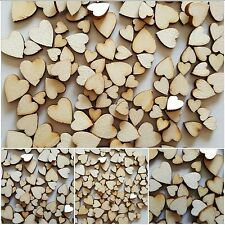 100 Wedding Table Scatter Mini Wooden Hearts Embellishments Craft Scrapbooking