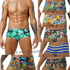 Men's Swimwear Elastic Swim Briefs Board Surf Shorts Boxer Swimsuits Drawstring